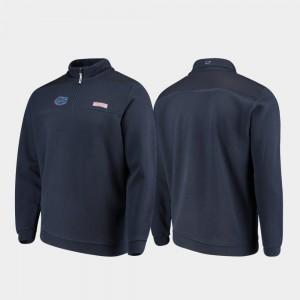 Florida Quarter-Zip Navy College Jacket For Men Shep Shirt
