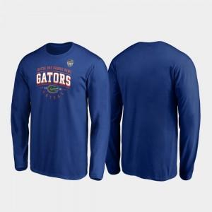 University of Florida College T-Shirt 2019 Orange Bowl Bound Tackle Long Sleeve Men Royal