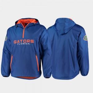 Florida Gators Men's College Jacket Royal Base Runner Half-Zip
