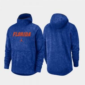 University of Florida Spotlight Basketball Team Logo Pullover College Hoodie Mens Royal