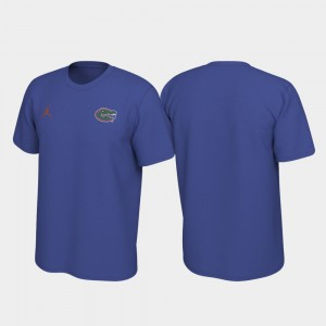 Royal Legend Left Chest Logo College T-Shirt Gator For Men
