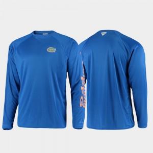 Gator Omni-Shade Men PFG Terminal Tackle Long Sleeve College T-Shirt Royal