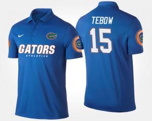 #15 Gators Men's Tim Tebow College Polo Blue
