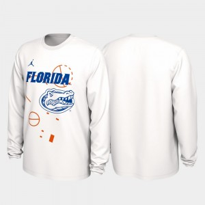 College T-Shirt 2020 March Madness Our Time Bench Legend White For Men UF