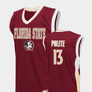 Men's Fadeaway FSU Seminoles Basketball Anthony Polite College Jersey #13 Red