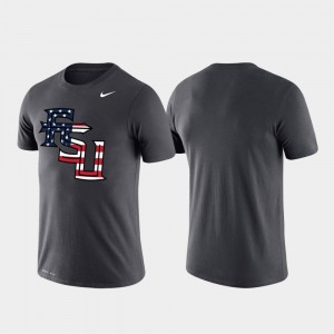 Florida State Seminoles For Men's College T-Shirt Americana Legend Anthracite Performance