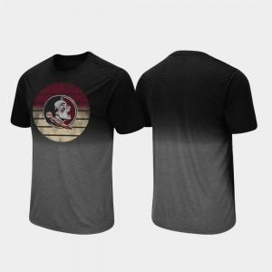 Florida ST College T-Shirt For Men's Dip Dye Fancy Walking Black