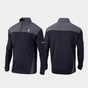 Omni-Wick Standard Florida State Seminoles Quarter-Zip Pullover Black Men College Jacket