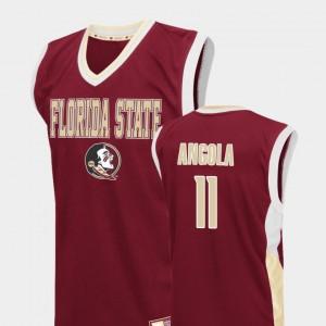 Basketball Red Braian Angola College Jersey Fadeaway Men #11 FSU