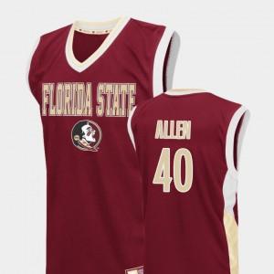 Brandon Allen College Jersey For Men Red Basketball Florida ST #40 Fadeaway