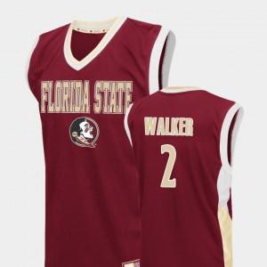 Fadeaway CJ Walker College Jersey #2 Basketball Red FSU For Men
