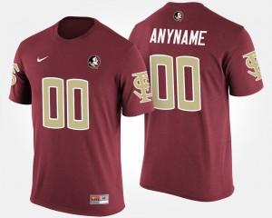 Garnet For Men College Custom T-Shirt #00 Seminoles