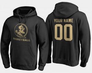 College Custom Hoodies Black Seminole For Men #00 Basketball -