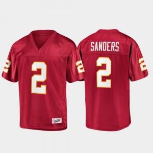 FSU Deion Sanders College Jersey Mens Champions Collection #2 Garnet