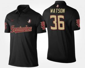 Florida ST Black #36 Dekoda Watson College Polo Men