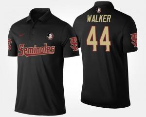 Black #44 Seminole Mens DeMarcus Walker College Polo