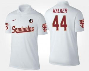 For Men's #44 DeMarcus Walker College Polo Florida State White