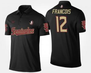 Black Florida State Seminoles #12 For Men Deondre Francois College Polo