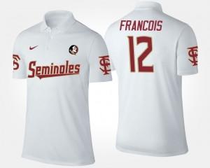 Men's #12 FSU Deondre Francois College Polo White