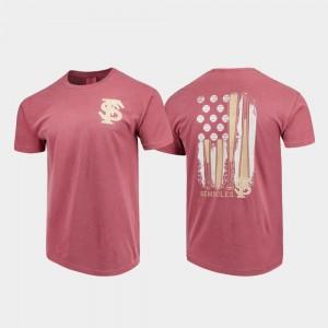 Comfort Colors For Men's Florida ST Baseball Flag College T-Shirt Garnet