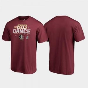 College T-Shirt March Madness 2019 NCAA Basketball Tournament Big Dance Garnet Men's Florida State Seminoles
