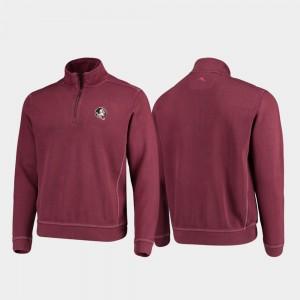 FSU Garnet College Jacket Half-Zip Pullover Tommy Bahama Sport Nassau Mens