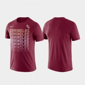 Fade College T-Shirt Garnet Performance For Men Seminole