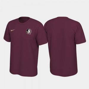 For Men Seminoles Legend Garnet College T-Shirt Left Chest Logo