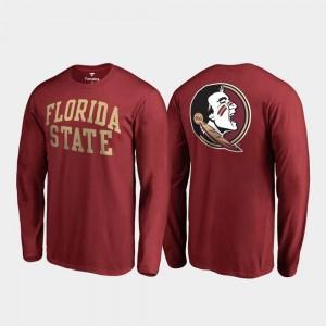 FSU Seminoles College T-Shirt Garnet Primetime For Men Long Sleeve