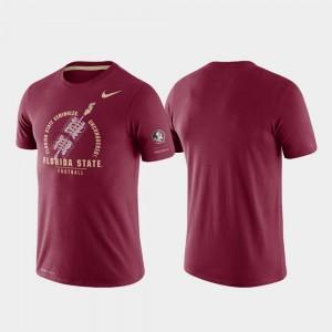 Rivalry Tri-Blend Performance Men's College T-Shirt Garnet Florida State