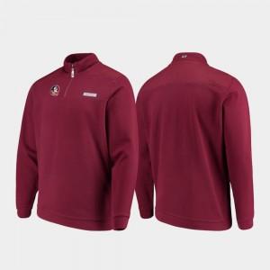 Quarter-Zip Garnet Shep Shirt For Men Seminoles College Jacket