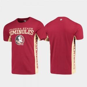 Garnet Side Bar College T-Shirt Florida ST Men