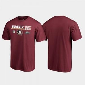 College T-Shirt Sweet 16 Backdoor For Men's March Madness 2019 NCAA Basketball Tournament Garnet FSU Seminoles