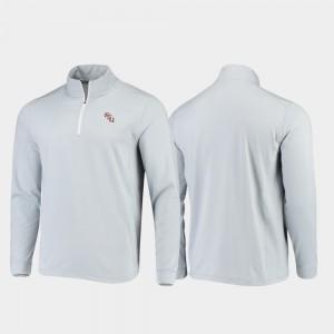Gameday Seminoles College Jacket Mens Gray Quarter-Zip Performance