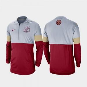 Rivalry Football Half-Zip Gray Garnet Men FSU College Jacket