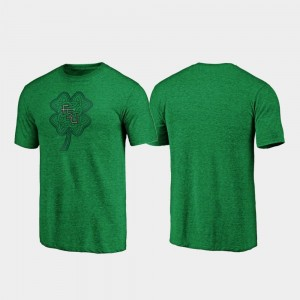 St. Patrick's Day College T-Shirt Florida State For Men's Celtic Charm Tri-Blend Green