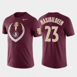 Football Icon Hamsah Nasirildeen College T-Shirt #23 Performance Garnet Florida State Seminoles Men