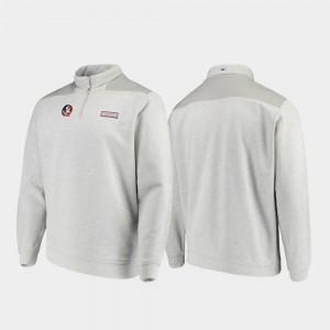Men Shep Shirt College Jacket Quarter-Zip Heathered Gray FSU