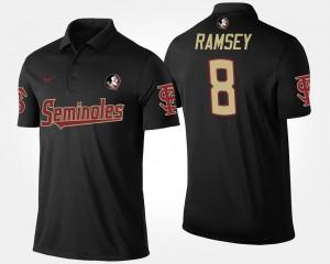 #8 Florida State Jalen Ramsey College Polo Black For Men