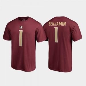 Name & Number For Men Legends Garnet Florida ST Kelvin Benjamin College T-Shirt #1
