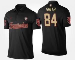 Florida State Seminoles For Men Black #84 Rodney Smith College Polo