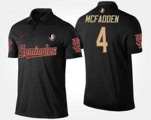 Tarvarus McFadden College Polo Black #4 Seminole Mens
