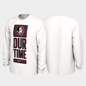 2020 March Madness Our Time Bench Legend College T-Shirt FSU White For Men