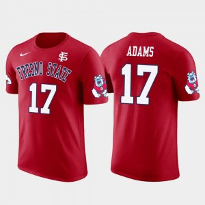 Green Bay Packers Football Davante Adams College T-Shirt Fresno State Red #17 Future Stars Men's