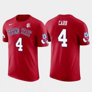 Fresno State #4 Red Oakland Raiders Football Mens Future Stars Derek Carr College T-Shirt