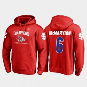 Marcus McMaryion College Hoodie Blitz #6 For Men's Fresno State Bulldogs 2018 Las Vegas Bowl Champions Red