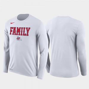 March Madness Basketball Performance Long Sleeve Fresno State Bulldogs For Men College T-Shirt White Family on Court
