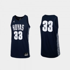 Replica Navy Georgetown Hoyas College Jersey For Men's Basketball #33