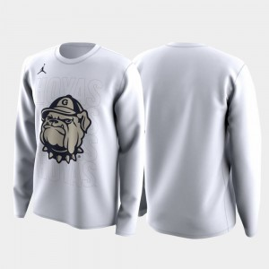 White March Madness Legend Basketball Long Sleeve College T-Shirt For Men Hoyas Family on Court