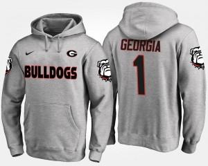 Georgia Bulldogs College Hoodie No.1 Men Gray #1